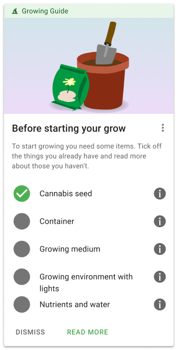 Grow with Jane checklist to start growing cannabis