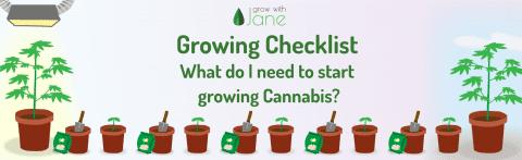 Cannabis Growing Checklist