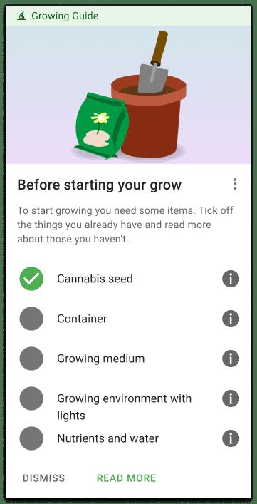 checklist start growing cannabis